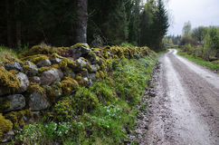 Old winding gravel road Stock Photography