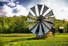 Old windmill. At a  farm Stock Photography