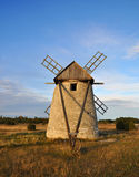 Old windmill. An old windmill on the island Gotland in sweden Royalty Free Stock Image