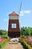 Old windmill. And white chair, Thailand Stock Photos