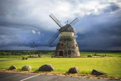 Old windmill. Located in Kuremaa, Estonia stock photo