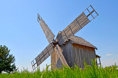 Old windmill. In a romanian countryside Royalty Free Stock Images