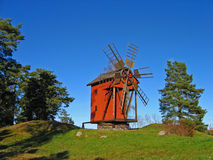 Old windmill. Mill near Stockholm, Sweden Stock Photography