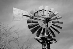 Old Windmill. A vintage black & white picture of an old windmill royalty free stock images