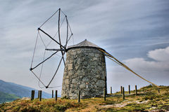 Old windmill of Aboim royalty free stock photography