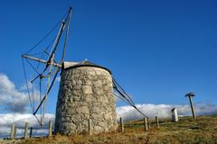 Old windmill of Aboim in Fafe stock photography