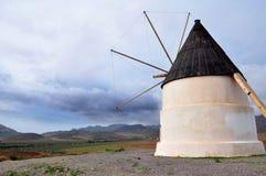 Old Windmill at Almeria Gabo de Gata, Spain Stock Photography