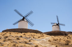 Old windmill along the don quiquote road Royalty Free Stock Images