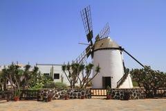 Old windmill of Antigua village, Fuerteventura Stock Photo