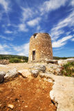 An old windmill in Askos, Zakynthos island Royalty Free Stock Photography
