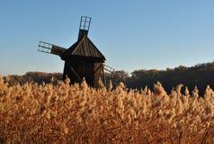 Old windmill autumn Stock Photos