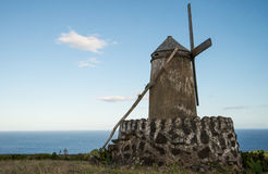 Old windmill on Azores Royalty Free Stock Photos