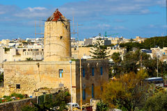 Old Windmill being Restored. Old Windmill in Naxxar being restored and preserved Royalty Free Stock Photo