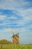 Old windmill and big sky Royalty Free Stock Images