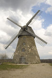 Old windmill and blue sky Royalty Free Stock Photo