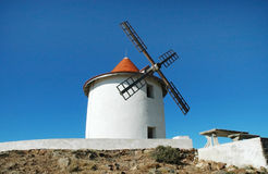 Old windmill in Capo Grosso, Corsica Stock Photography