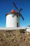 Old windmill in Capo Grosso, Corsica Stock Image