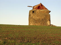Old windmill in Castro Verde, Alentejo, Portugal Stock Image