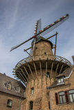 Old windmill in the center of Kalkar Royalty Free Stock Image