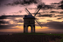 The old Windmill at Chesterton at sunset Stock Photos