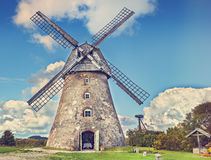 Old windmill in countryside, Europe Royalty Free Stock Photography