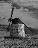 Old windmill, Fuerteventura island Royalty Free Stock Images