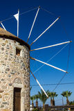 Old windmill from the greek island of Kos Royalty Free Stock Photography