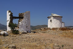Old windmill on a hill in Bodrum, Turkey Stock Photography