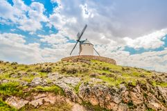 Old windmill on the hill Royalty Free Stock Photo