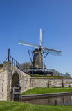 Old windmill in the historical city of Sloten Stock Images