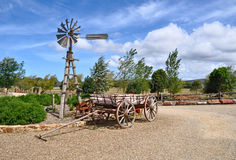 Old windmill and horse drawn cart Stock Photos