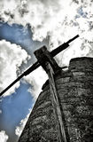 Old windmill on the island of Crete Greece Royalty Free Stock Image