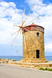 Old windmill on the island of Rhodes Royalty Free Stock Image