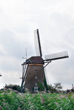 Old windmill in Kinderdijk Royalty Free Stock Photography