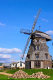 Old windmill landscape. The piles of stones Royalty Free Stock Photos