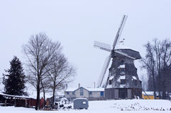 Old windmill landscape in winter Royalty Free Stock Photography
