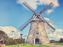Old windmill, Latvia, East Europe Royalty Free Stock Photography