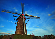Old windmill at Leveroy. Near Roermond, The Netherlands royalty free stock photography