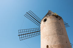 Old Windmill molino in Santa Catalina, Palma de Mallorca, Spain Royalty Free Stock Photography