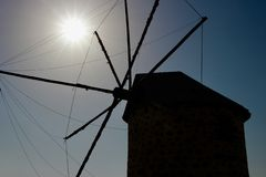 Old windmill near Bodrum Turkey royalty free stock images