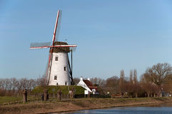 Old windmill near Damme dring winter Stock Photography