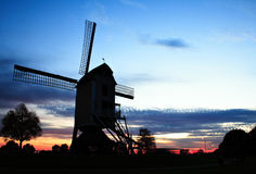 Old windmill near Roermond. The Netherlands royalty free stock image