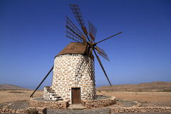 Old windmill near Tefia village, Fuerteventura, Canary Islands, Stock Photos