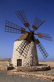 Old windmill near Tefia village, Fuerteventura, Canary Islands, Royalty Free Stock Image