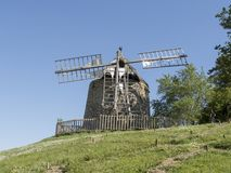 Old windmill. In Lautrec, france Stock Photos