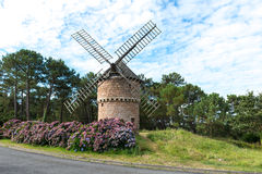 Old windmill, Perros Guirec (France) Stock Image