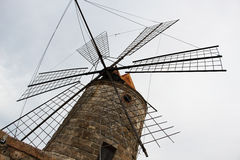 Old windmill in perspective Royalty Free Stock Photo
