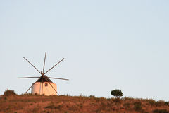 Old windmill in Portugal Stock Photos