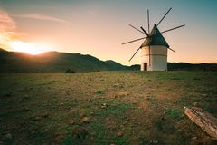 Old windmill of Pozo de los Fraile royalty free stock image