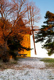 Old windmill in Provence, France. Shot in a quiet morning Royalty Free Stock Images